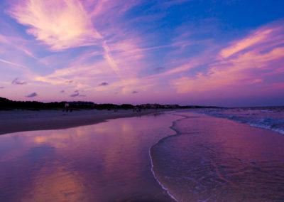 sunset beach and sky
